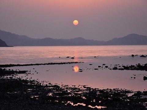博多湾の夕日