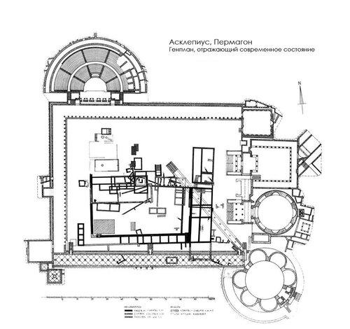Асклепиус в Пергамоне (Sanctuary of Asclepius), генплан