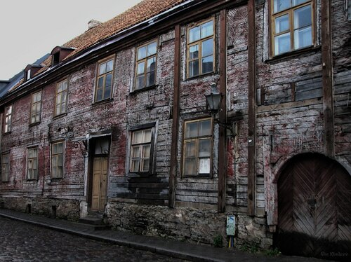 An old, really old and patched, overpatched lodge in Tallinn, Estonia.