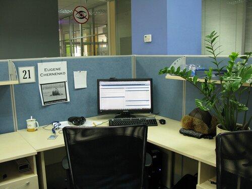 Моё рабочее место в GlobalLogic