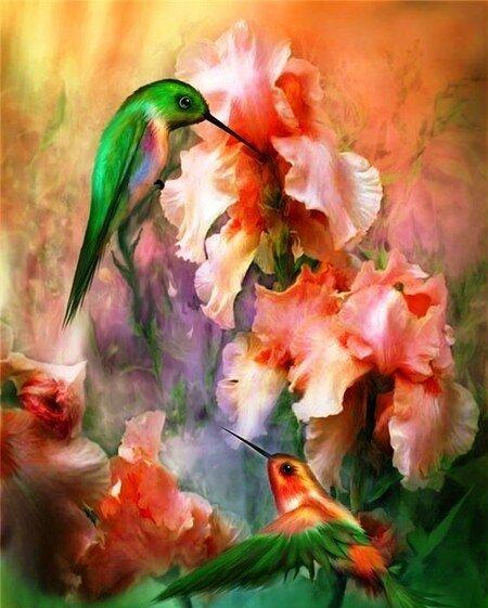 цветы красками фото