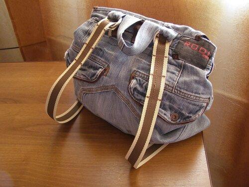 Джинсовый рюкзак для Сережи из старых папиных джинсов. на Яндекс.Фотках.