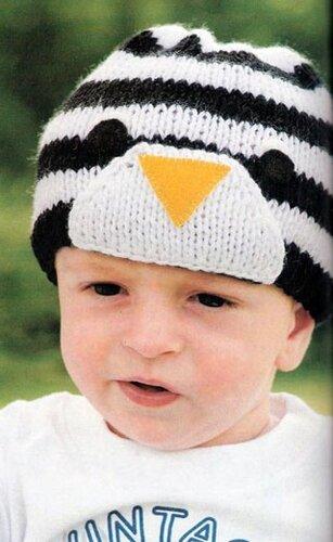 Схожесть с пингвином шапочке