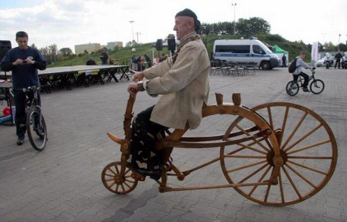 Когда водопроводчику скучно, он делает деревянные велосипеды 0_8a3bd_2ee87b36_XL