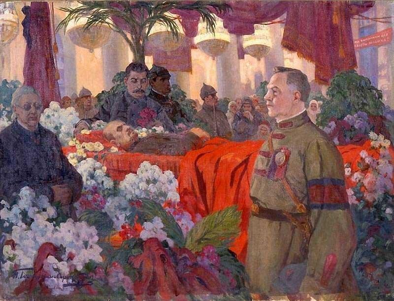 Горюшкин-Сорокопудов. Сталин у гроба Ленина.