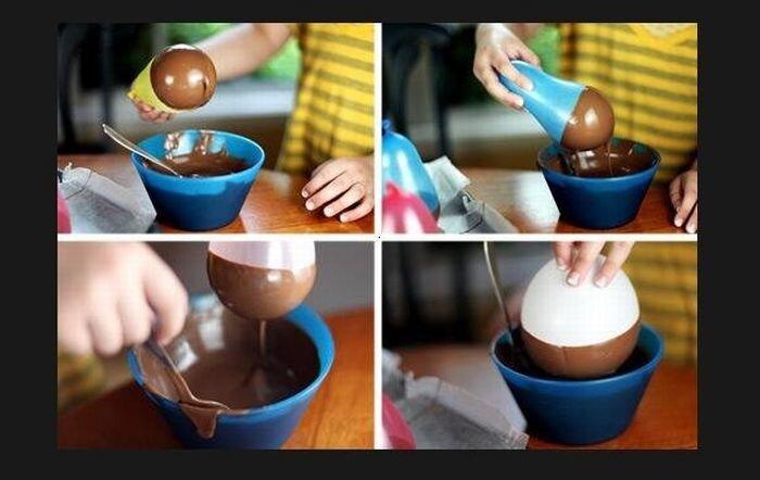 Как сделать из шоколада мороженое