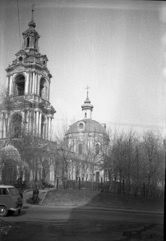 Церковь Никиты-мученика на Старой Басманной. 1973 год.