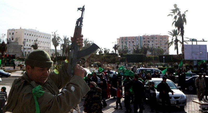 Members of Lybian leader Moamer Kadhafi'