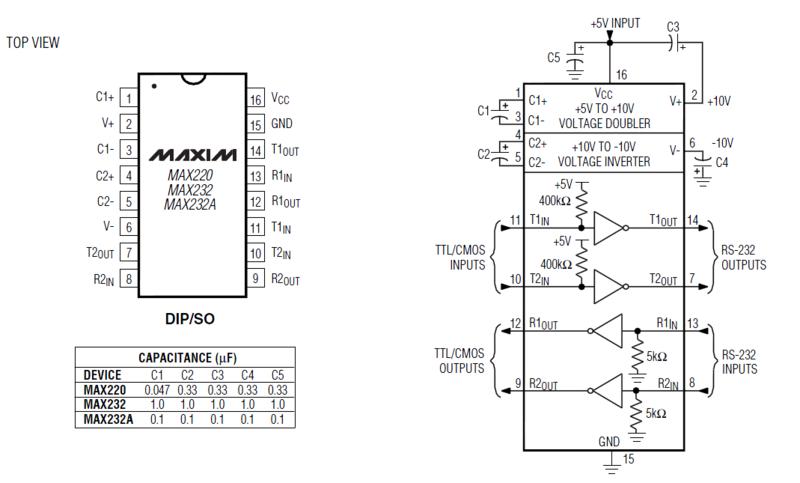 Схема программатора, выполненного на ней.  Типовая схема включения, взятая из Data Sheet фирмы Texas Instruments...