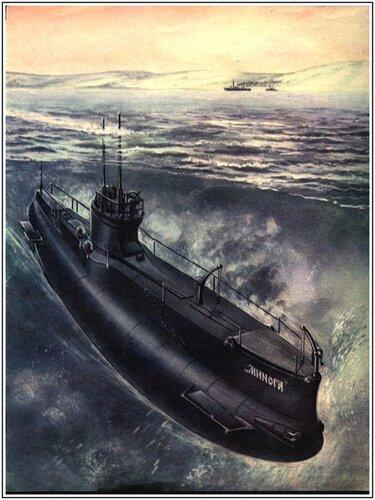 """Чертежи подводной лодки  """"Минога """""""