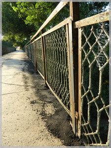Ремонт перил на мосту по ул. Дечебала