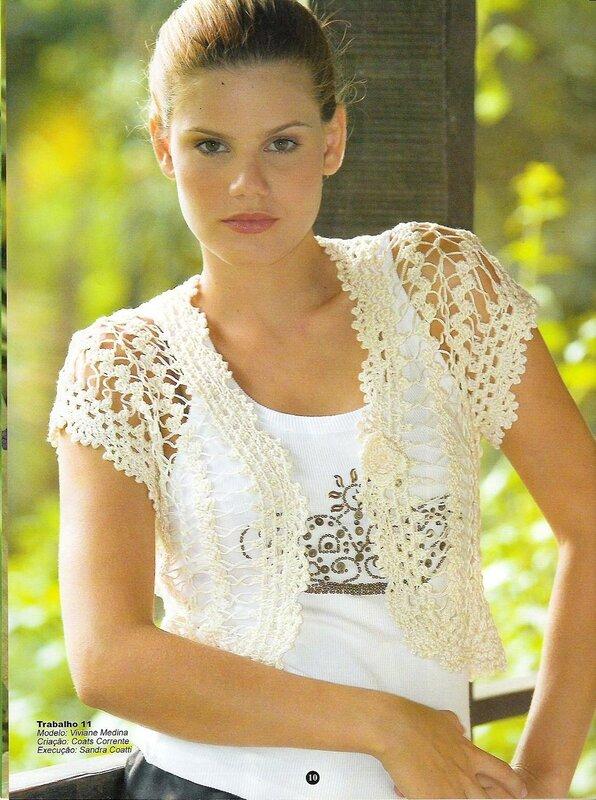 Болеро - вязание на вилке .