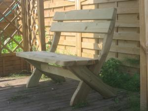 Схема садовой скамейки