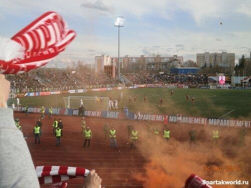Болельщики Спартака на выезде в Саранске