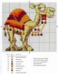 Вышивка крестом верблюд