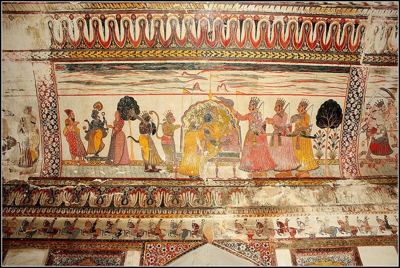 Джахангир-Махал, фрески