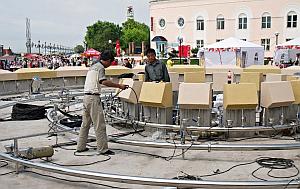 Завершается ремонт большого фонтана на Спортивной набережной
