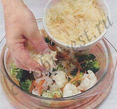 запеканка из макарон и овощей