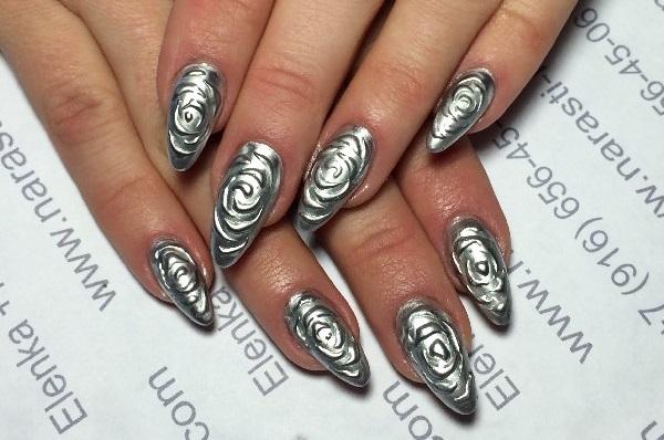 Лепка гелем на ногтях - 3D гели для дизайна ногтей 72