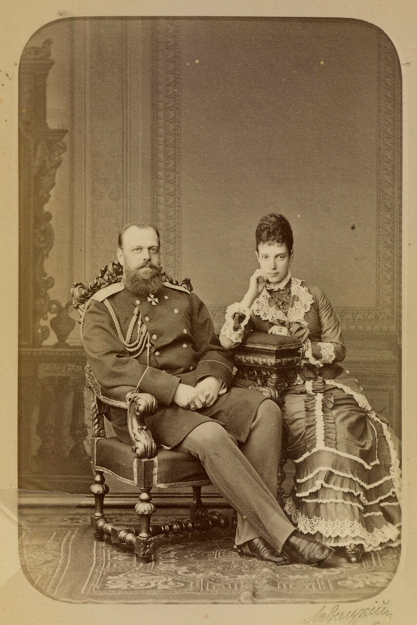 1878. Цесаревич Александр и  цесаревна Мария Федоровна