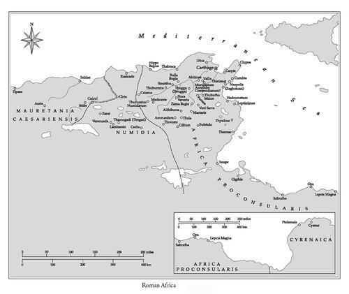 Карта африканских колоний Римской империи