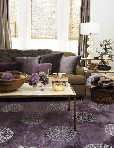 Фиолетовый цвет в интерьере Домашний.