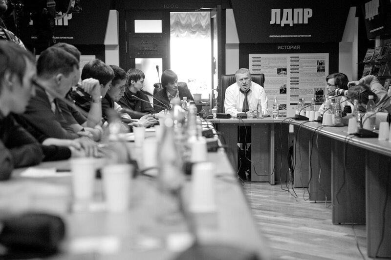 фотограф Кузьмин. портрет политика. Жириновский