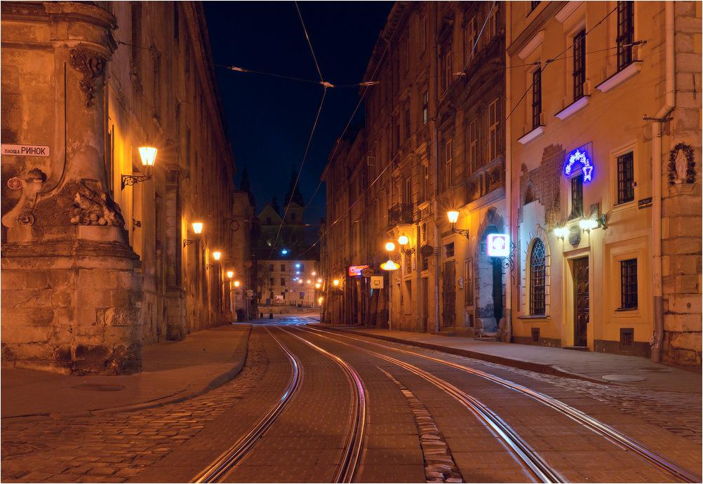 Ночь на улице Львова