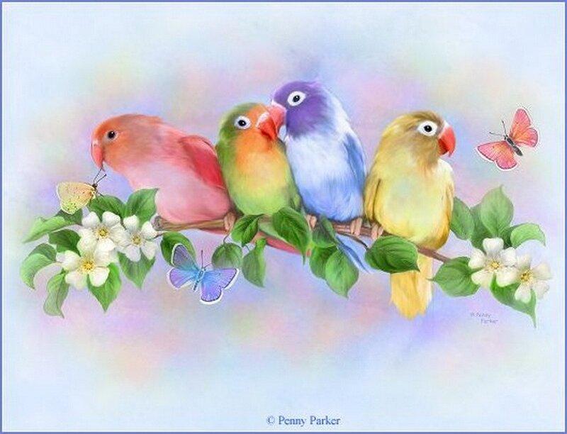 4 птички - Татьяна Юрьевна Лукина.