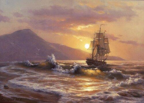 Gemi yağlı boya yağlı boya gemi resimleri denizde fırtına