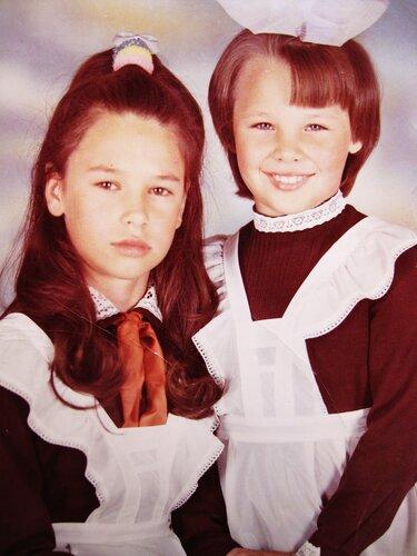 Дочки Оксана и Лена.