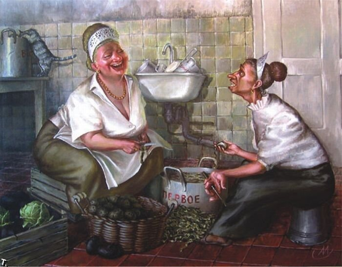 картины украинская деревня