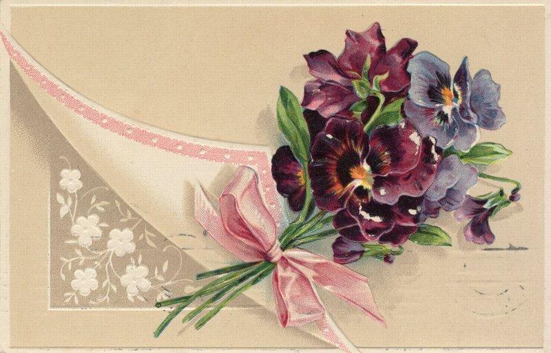 поздравления с днем рождения цветы картинки винтаж сложный