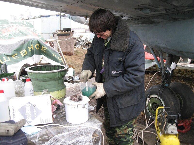 Подготовка к окраске колёсных дисков