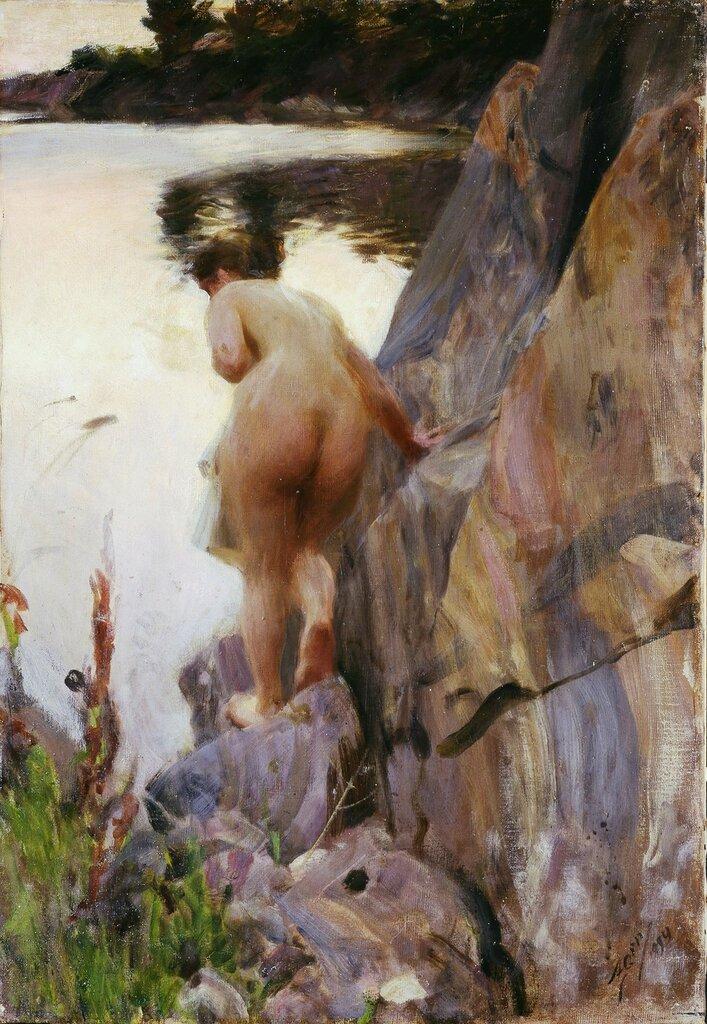 Anders Leonard Zorn. Летний вечер. 1894, 80 х 55 см, Музей Цорна, Мура.jpg