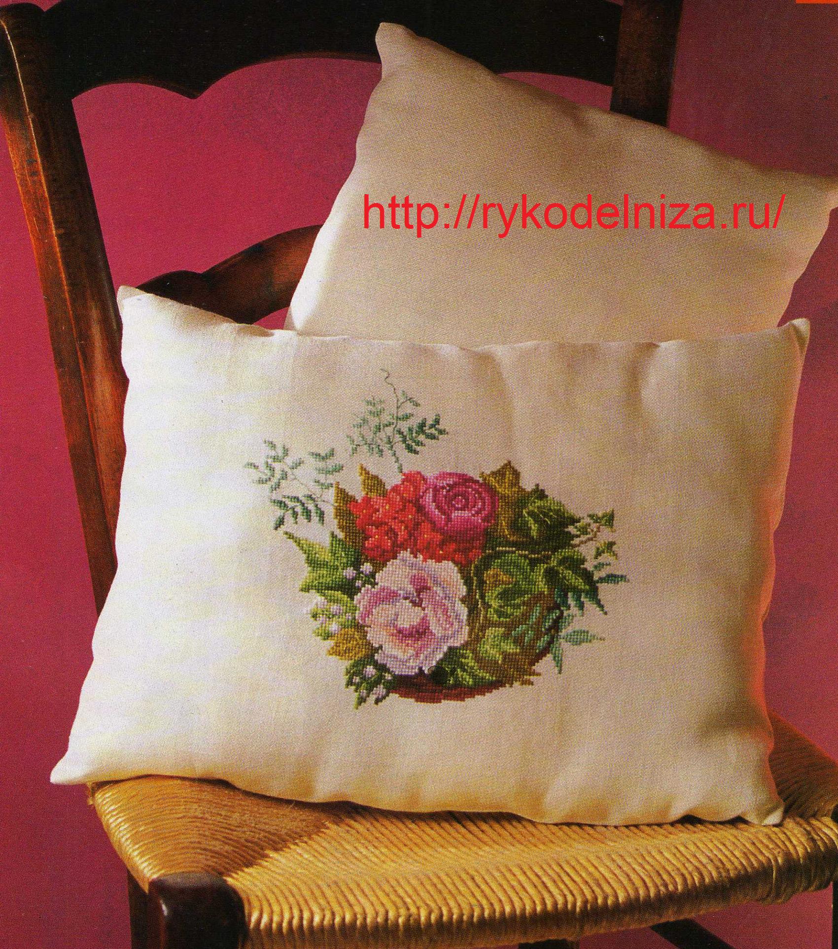 Схемы вышивки крестиком. Розы
