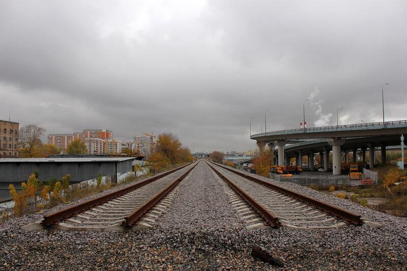 Окончание путей у мост через Белку