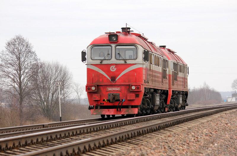 2М62М-0949 на перегоне Молодечно - пруды