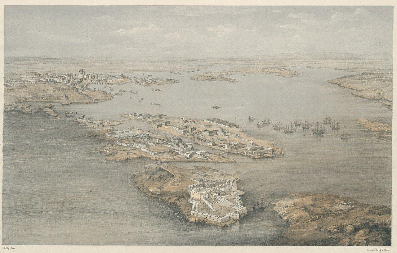 Крепость Свеаборг и Гельсингфорс