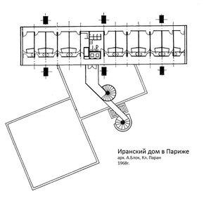 Иранский дом в Париже, план