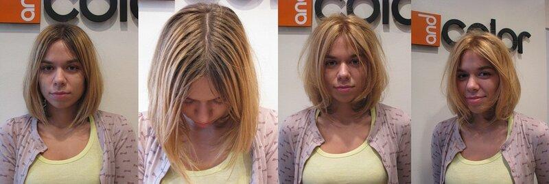 Желтые волосы после мелирования