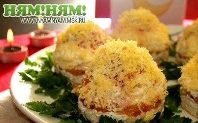 """Салат """"Мимоза"""" (порционный)"""