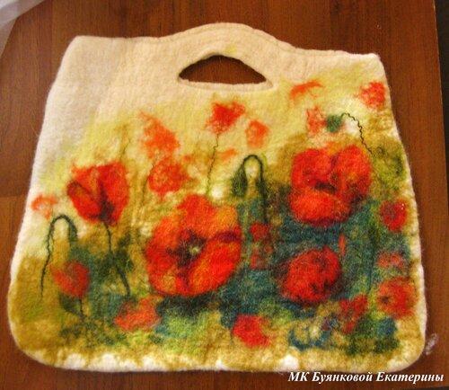 Приглашаю на мастер-классы по валянию на ИЮНЬ - сумки, картины, шарфы...