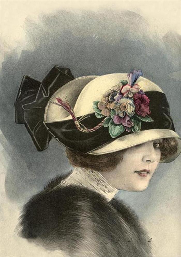 старые открытки шляпки поучительна история возникновения