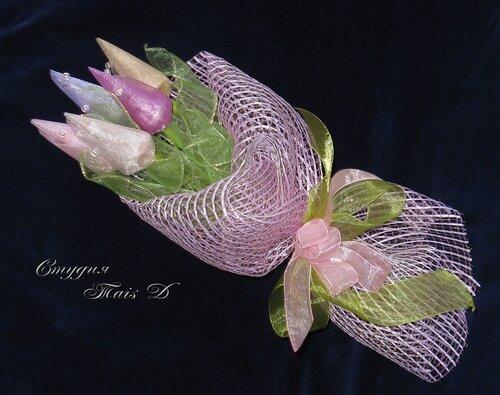 Тюльпаны микс сиреневый