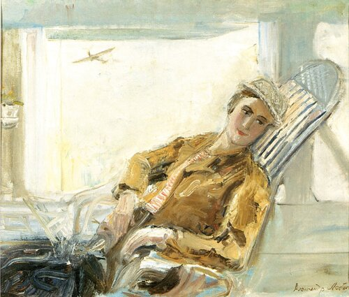 А. Лабас - Портрет жены в самолете