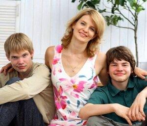 Наталья Касперская с сыновьями Максимом и Иваном