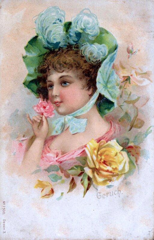 Новому, дореволюционные открытки женщины