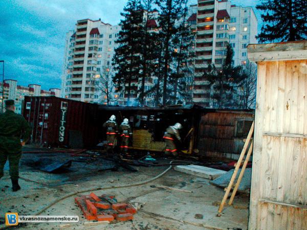 Пожар на строительной площадке по ул. Победа