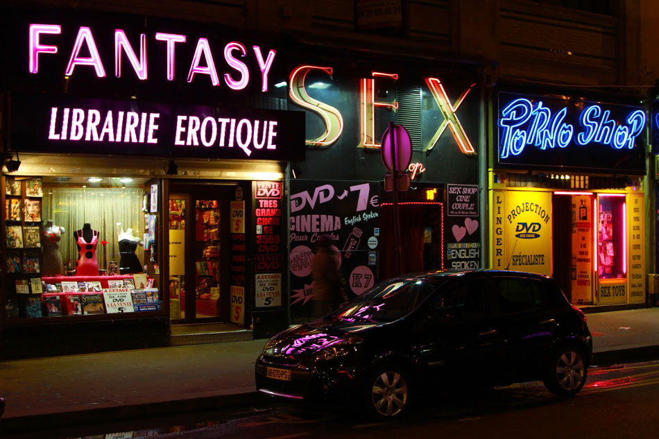 Улица клиши в париже